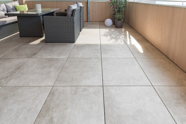 Fliesen Jams - Terrassenboden, Bodenplatten, hellbraun, Aussenbereich, Balkon, witterungsbeständig